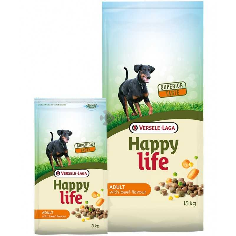 Happy Life Adult Beef kutyaeledel 15kg