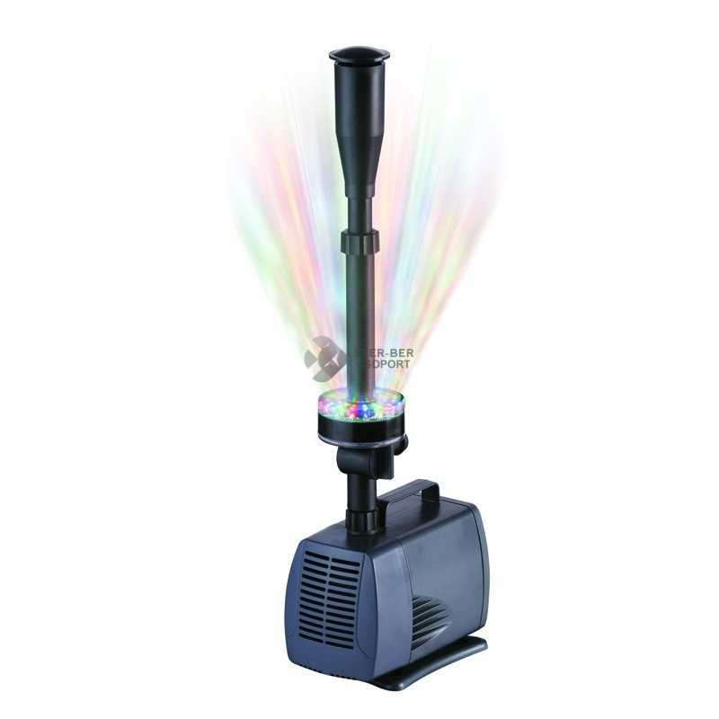 Sobo LED-3800FP vízpumpa szökőkúttal, LED lámpával