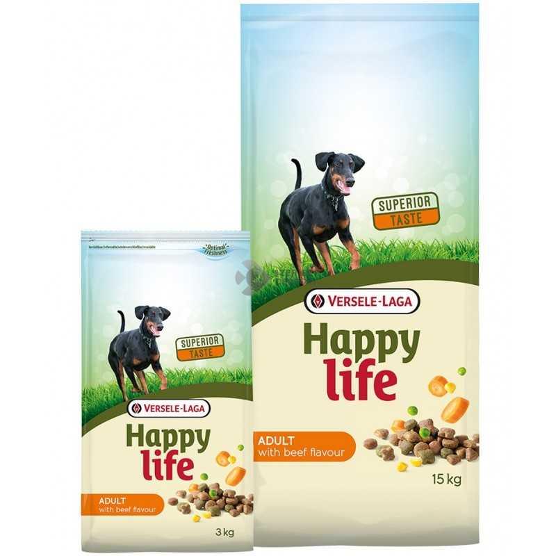 Happy Life Adult Beef kutyaeledel 15 kg